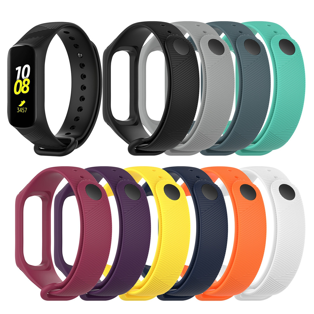 Replacement Silicone Wrist Strap Band For Samsung Galaxy Fit E R375 Smartwatch Bracelet Wristband Strap Unisex Accessories
