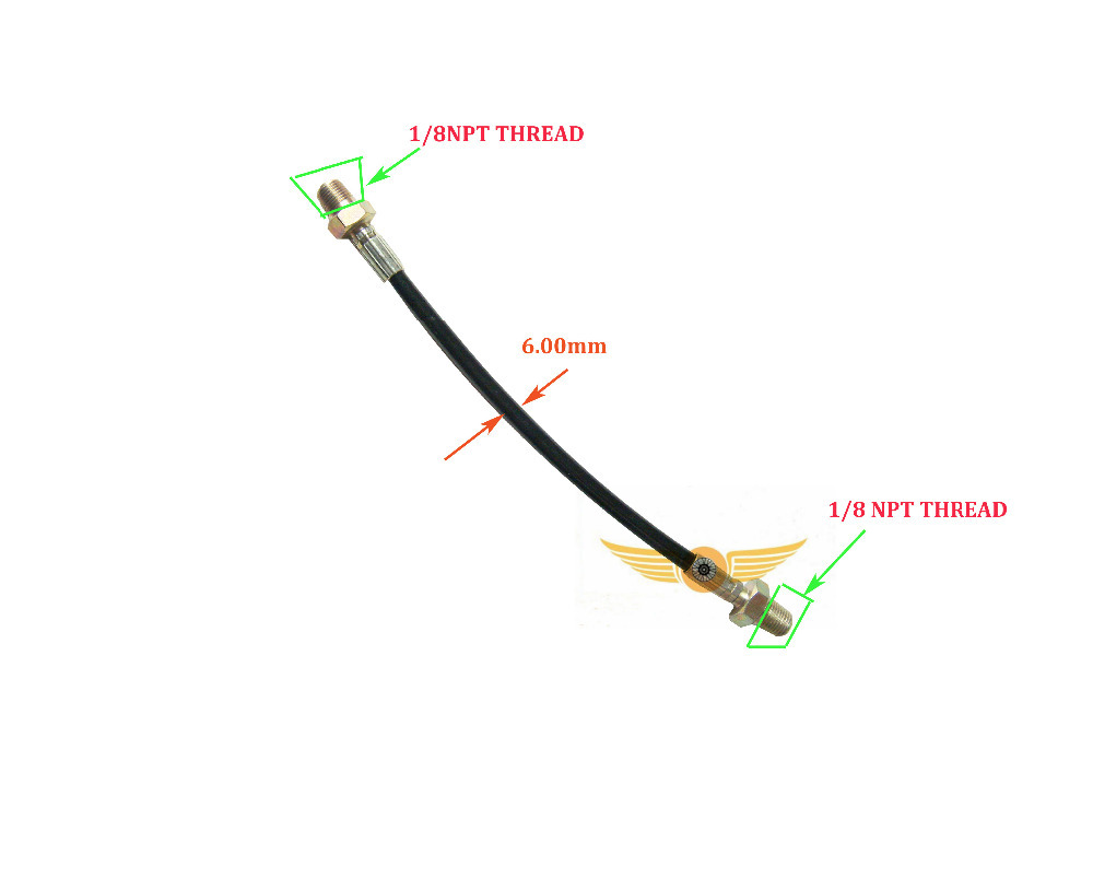 PCP Hunring Paintball High Pressure Hose Line For Paintball Air Refill  34.5 Cm Long 2PCS=1 Lot
