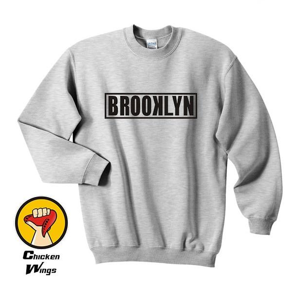 c232631bc9f3 Brooklyn Block Printed Mens Shirt Nyc Usa Swag Street Hipster Graphic Top  Crewneck Sweatshirt Unisex More Colors XS - 2XL