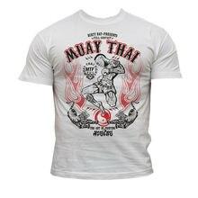 Artes marciais Mma Muay Thai Kick Boxing MenS 2019 Moda Criativa Curto Impresso Homens Tee Customize Camisetas