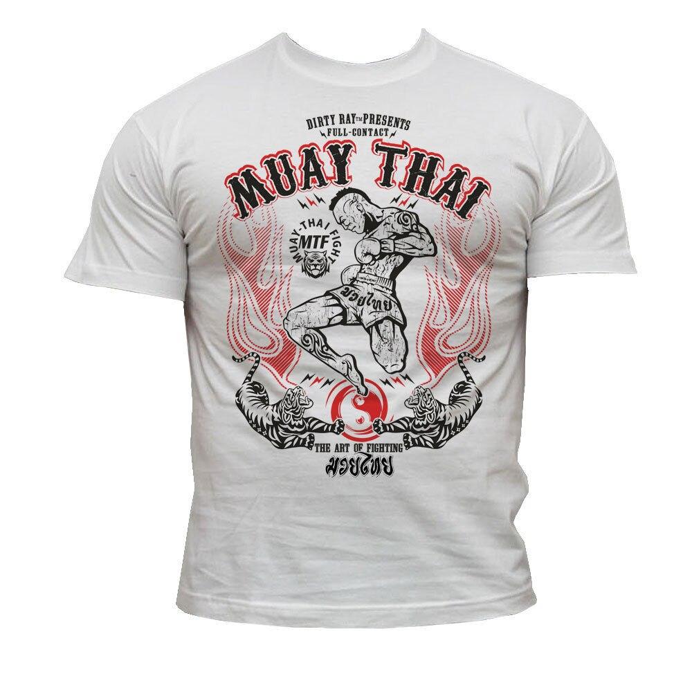 Martial Arts Mma Muay Thai Kick Boxing MenS 2019 Fashion Short Creative Printed MenS Tee Customize Tee ShirtsT-Shirts   -