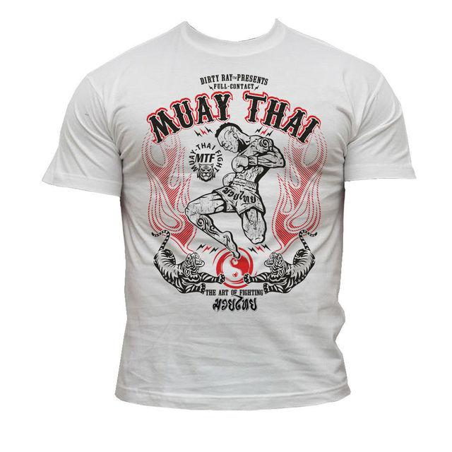 무술 mma muay 타이어 킥 복싱 남자 2019 패션 짧은 크리 에이 티브 인쇄 남자 티 사용자 정의 티셔츠