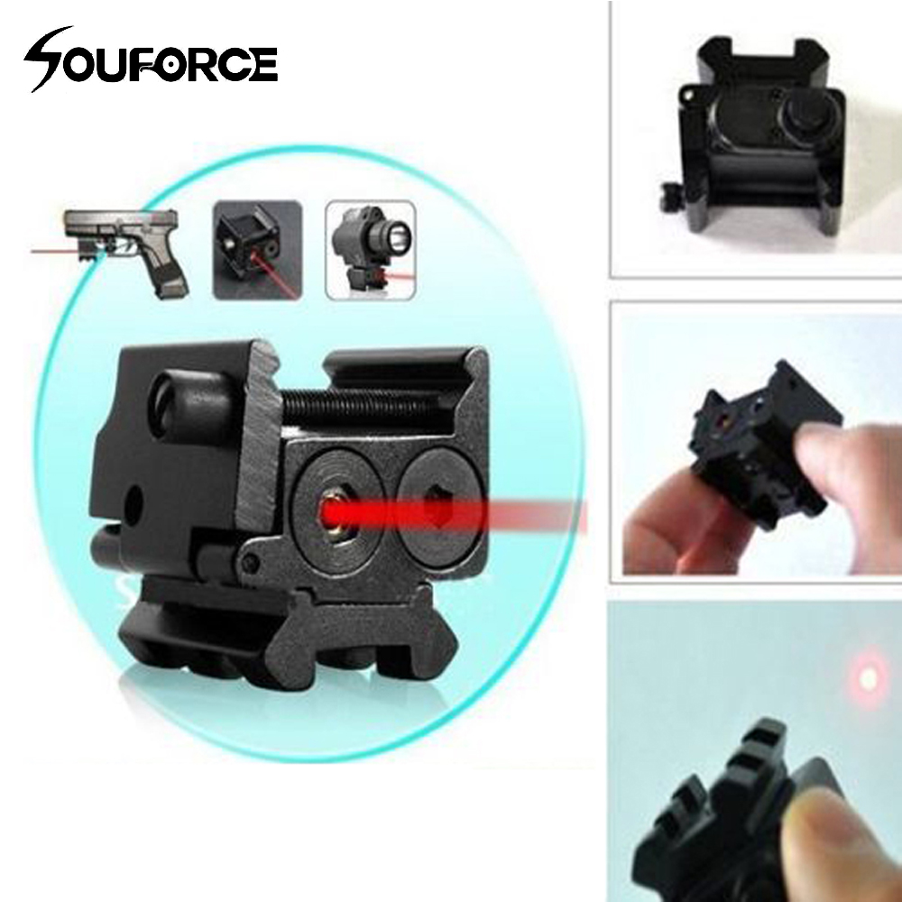 Mini Adjustable Compact Red Dot Laser Sight Fit for Glock 17 19 with 20 mm Rail Mount of Hunting Accessories