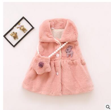 New-Arrival-Baby-Snow-Wear-Girls-Baby-Clothing-0-2T-White-Pink-Cute-Bow-Pattern-Winter-Outerwear-Waistcoats-2016-Vogue-5