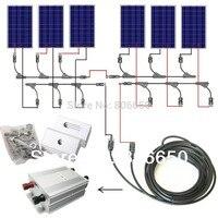 AU ЕС и США наличии полный комплект 600 Вт Панели солнечные клетки от сетки Системы, 600 Вт Солнечный Системы для дома, бесплатная доставка