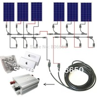 AU EU USA Stock Complete Kit 600W Solar Panel Cells Off Grid System, 600w Solar System for Home, Free Shipping