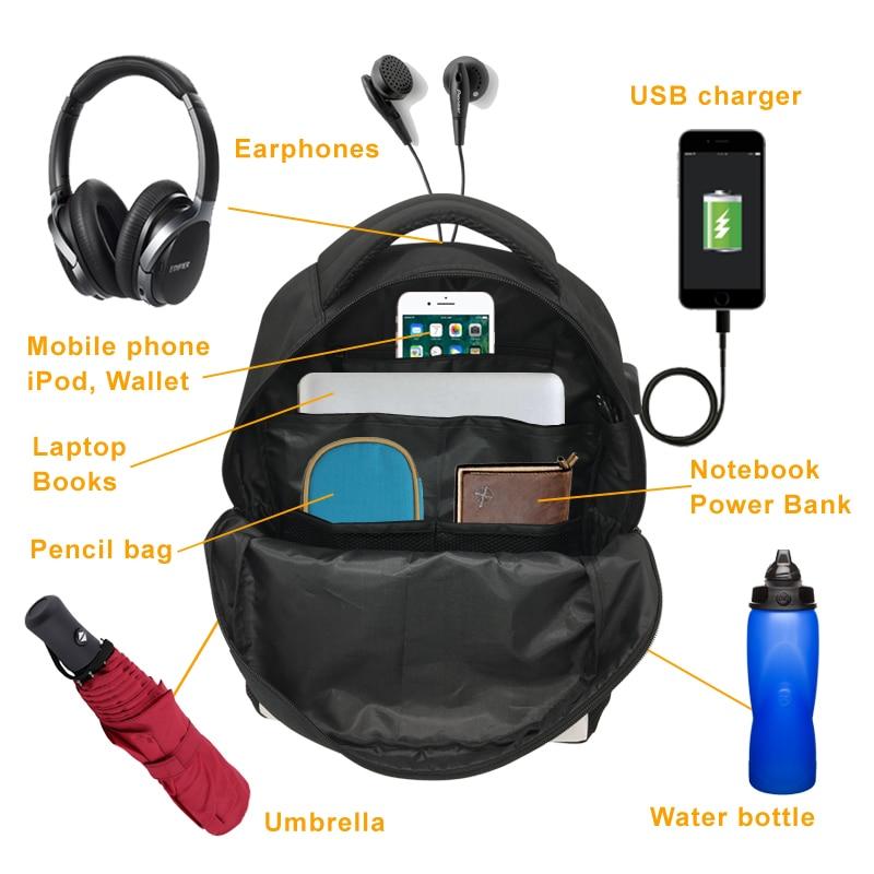 Cartoon Vespa Motorcycle USB Charging backpack for teenager boys girls women laptop backpack kids school bag Halloween gift in School Bags from Luggage Bags