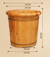 Solid Wood Steam Foot Bath Barrel Household Massage Foot Bath Barrel Footbath Fumigation Adult Tub Special Foot Pedicure