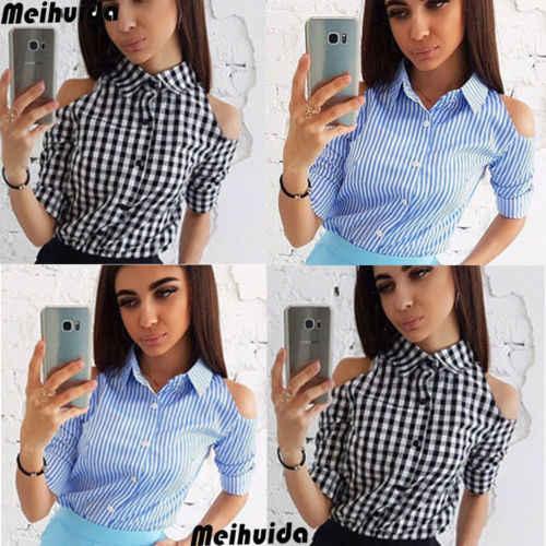 エレガントなシャツレディースファッション市松チェック柄ブラウスコールドトップス長袖シャツスリムブラウス女性の秋プラスサイズ