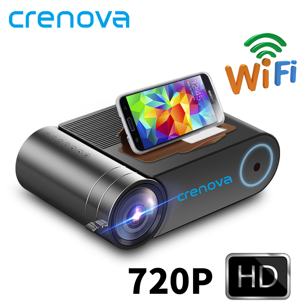 CRENOVA 2019 Newest HD 720P LED Projector For 1080P  Wireless WiFi Multi-Screen Video Projector  3D HDMI VGA AV Beamer