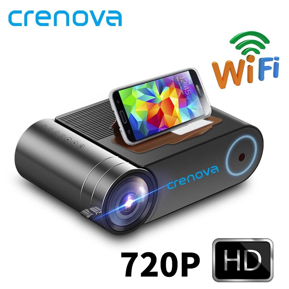 Crenova 2019 mais novo hd 720 p led projetor para 1080 p sem fio wifi multi-tela de vídeo projetor 3d hdmi vga av beamer