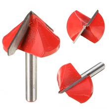 High Quality 90 Degree Tungsten Steel CNC Router Engraving Wood Working Tool V Groove Bit 6x32mm
