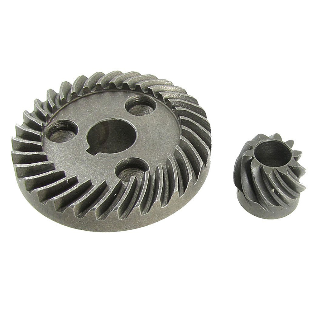 EWS-Replacement grinding arc-toothed bevel pinion ring gear set metal gear electric spiral bevel ring pinion angle grinder gear set for hitachi 100