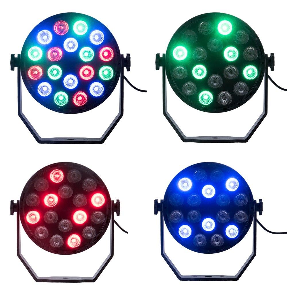 LED Par 18W EU PLUG LED RGB Stage Light Par Light With DMX512 For Disco DJ Projector Machine Party Decoration Stage Lighting