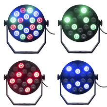 цена на LED Par 18W EU PLUG LED RGB Stage Light Par Light With DMX512 for disco DJ projector machine Party Decoration Stage Lighting