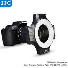 JJC – anneau lumineux LED pour appareil photo, Macro, objectif 49, 52, 55, 58, 62, 67 MM, pour Sony, Canon, Nikon, Olympus, Pentax, SLR, DSLR