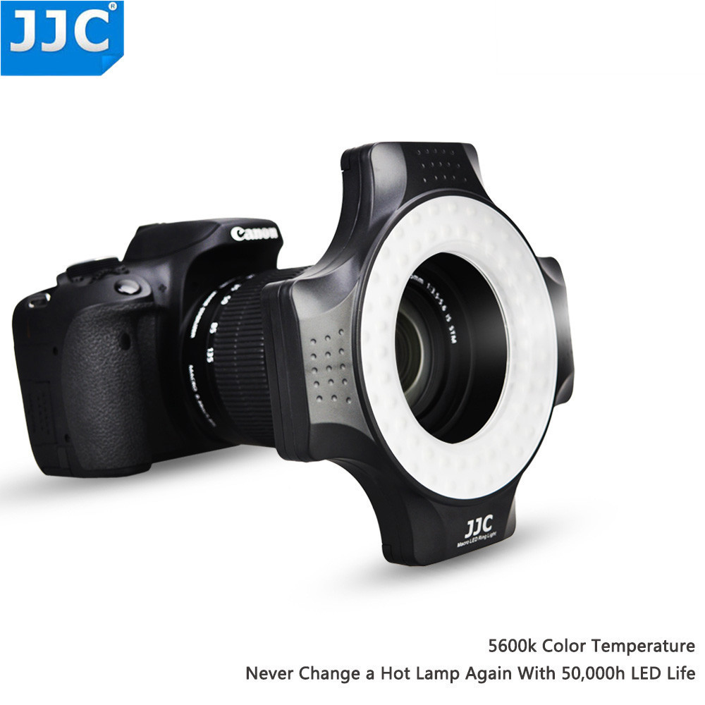 JJC LED Macro Ring Flash Light for Sony for Canon for Nikon for Olympus for Pentax SLR/DSLR Camera 49 52 55 58 62 67 MM Lens