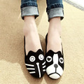 20% OFF Free Shipping Women Dog Cat Flats, Women's Flat Shoes Loafers Casual Cartoon Suede Flats Shoes