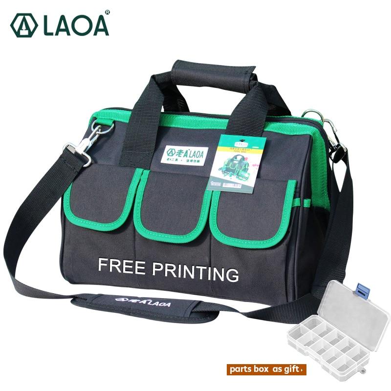LAOA 600D Accept OEM Label Tool bag Electrician Large capacity Repair tool kit water proof bags storage OEM name, LOGO on bag