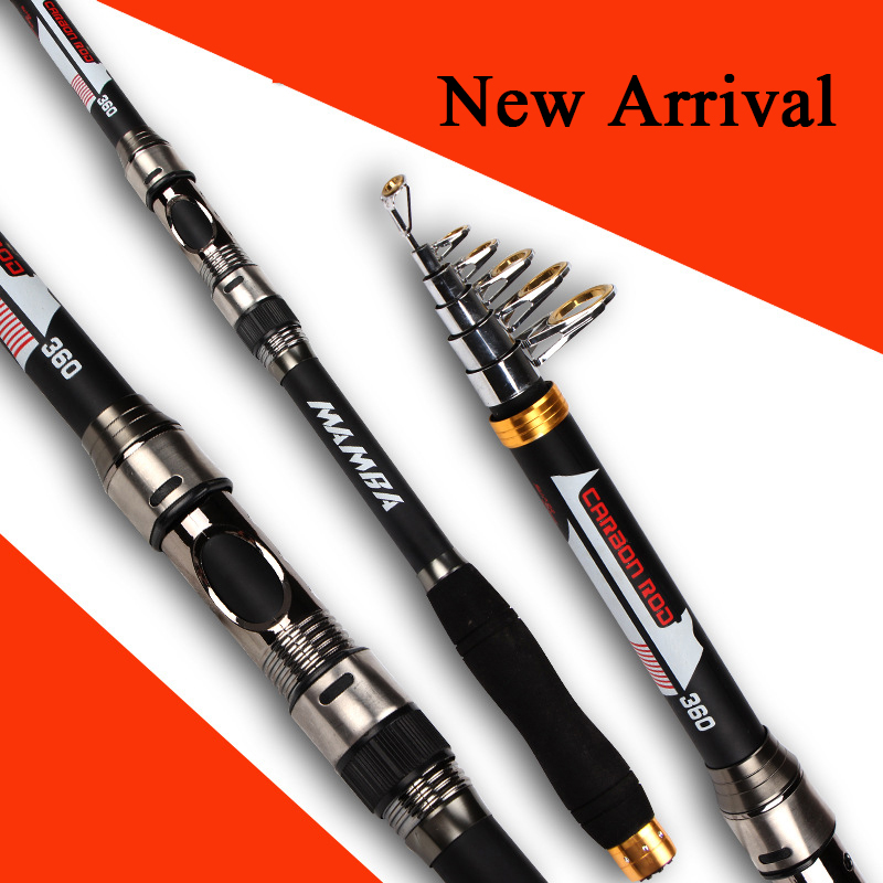 MANBA CARBON FIBER ROD Best Quality Telescopic spinning rods fishing Carbon Fiber fishing rod pole 2.1m / 2.4m / 2.7m/3.0m//3.6m