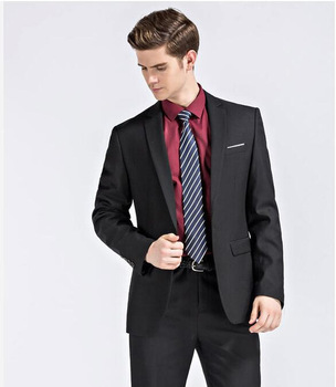 Smoking Limited New High Quality Cheap Groom Suit Tuxedos One Button Groomsmen Best Man Suits 2 Pieces Wedding (jacket+pants)
