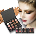 Mais novo huamianli 12 cores smoky eyeshadow brush set maquiagem cosméticos shimmer matte sombra make up kit palette
