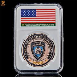 США Феникс Полицейский отдел значок молитва Archangel св. Майкл медная наградная монета W/роскошная коробка