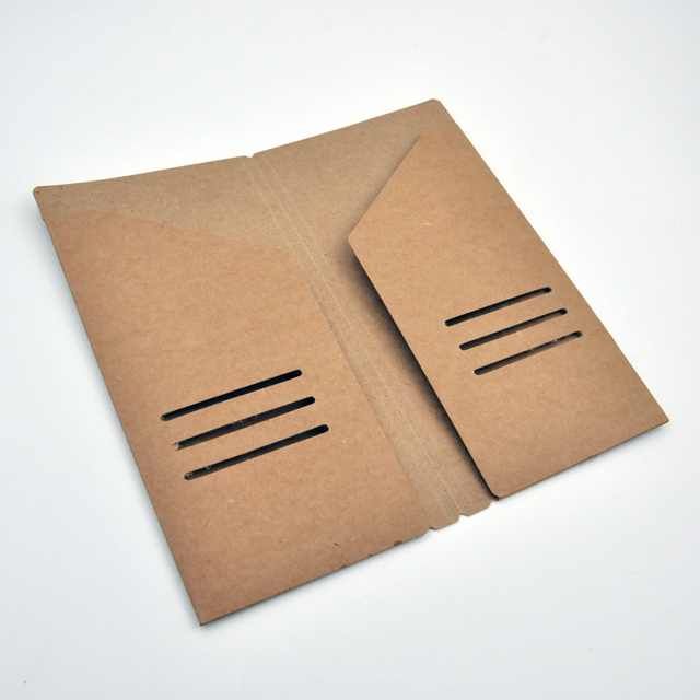 Kraft Paper Storage Bag Card Tickets Organizer Folder For Leather Traveler S Notebook Diary Journal 3 Sizes