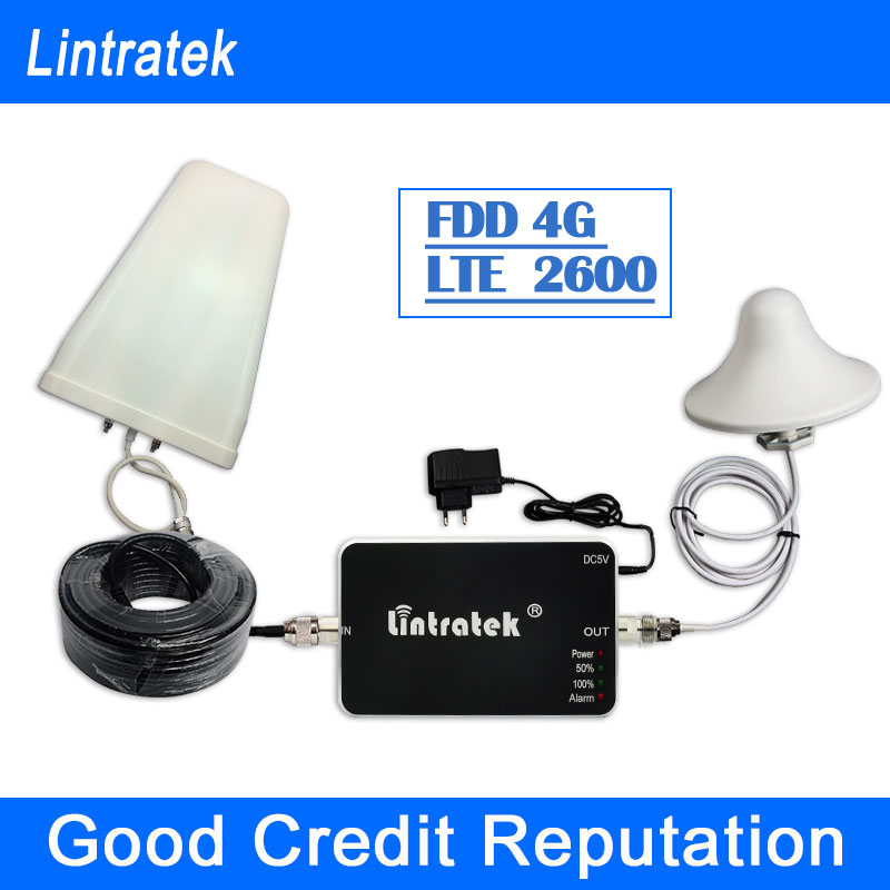 ФОТО Best Price Lintratek Mini Smart 4G LTE 2600MHz Signal Repeater Mobile Phone 4G Signal Booster 2600 Signal Repeater Amplifier S10