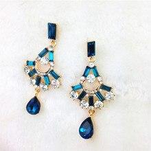 2016 Crystal Designer Sexy Luxury Chandelier Earrings Fashion Jewelry Drop Earrings Vintage Brand Statement Earrings For Women