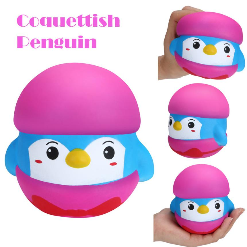 1PC Coquettish Penguin Charm Slow Rising Squeeze Stress Reliever Toy Cute Gift Exquisite Fun kids gift Funny Novelty toys