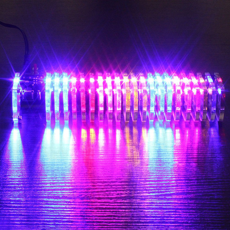 Back To Search Resultstoys & Hobbies Cheap Price Single-chip Optical Cube Kit Electronic Diy Production Parts Led Music Spectrum 21-segment Audio Light Column Novelty & Gag Toys