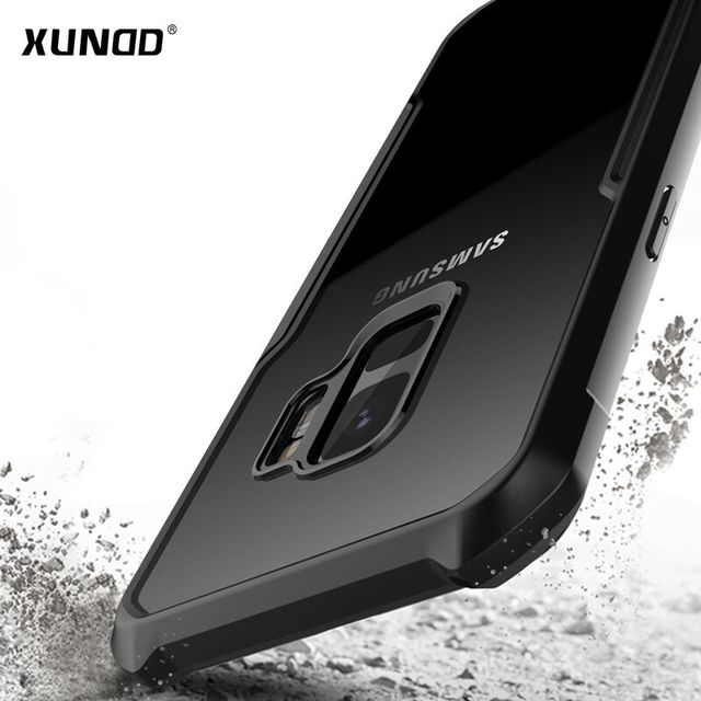 best sneakers c4f3d 7b3e5 US $12.84 |Xundd Drop proof Case for Samsung Galaxy S9 S9+ Anti knock Clear  Hard Acrylic + TPU Back Cover for Galaxy S9 Plus case coque-in Fitted ...