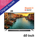 Original novo xiaomi tv 3 60 polegadas rgb 4 k 3840*2160 ultra fino HD Quad Core 2 GB Ram 8 GB Rom Bluetooth 4.1 Casa Smart TV