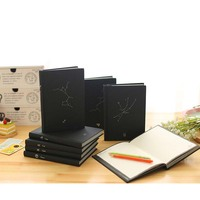 Black Notebook Notepad Program Diary 12 Constellations Black Super Thick Manuscript Planner Personalized Stationery Work Book