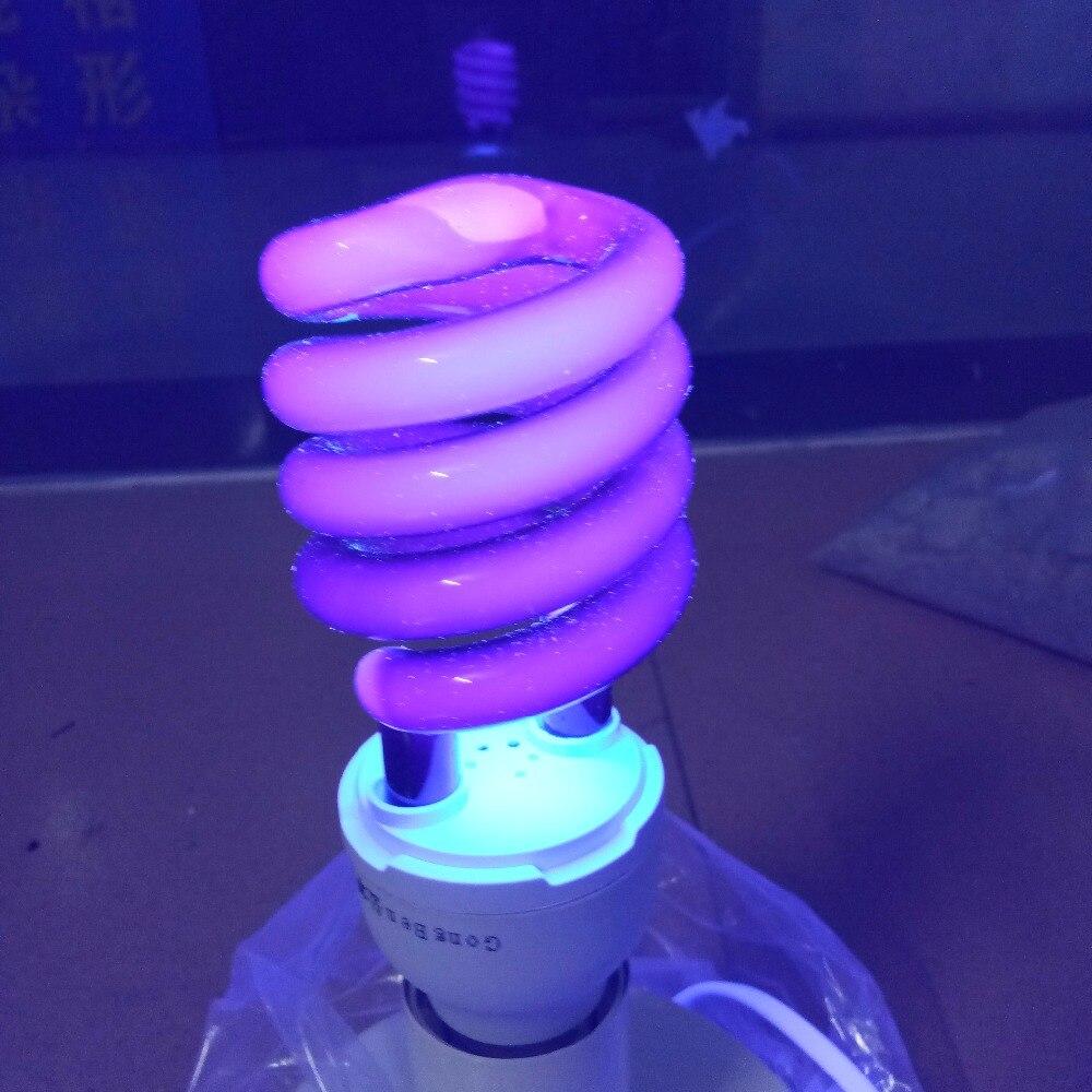 E27 40 W 220 V lumière Ultraviolette économie d'énergie ampoule spirale quartz Fluorescent UV lumière noire Violet CFL 365nm stade effet lampes