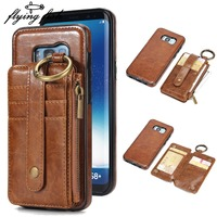 Multifunction Phone Cases For Samsung Galaxy S8 Plus S8Plus G9500 2 In 1 Magnetic Wallet Detachable