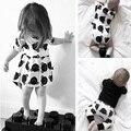 Bebés se viste traje de la princesa 2016 primavera Casual marca de ropa para niños de la osa menor blanco del bebé de la ropa