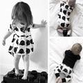 Bebê meninas vestido de princesa traje 2016 Casual primavera marca roupa dos miúdos pequeno urso branco do vestido de bebê menina roupa