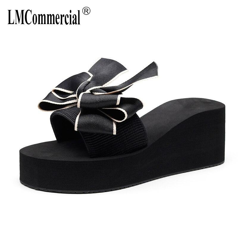 Butterfly Lady Summer outside wear lady thick-soled Internet celebrity slippers women full of flip flops luxury