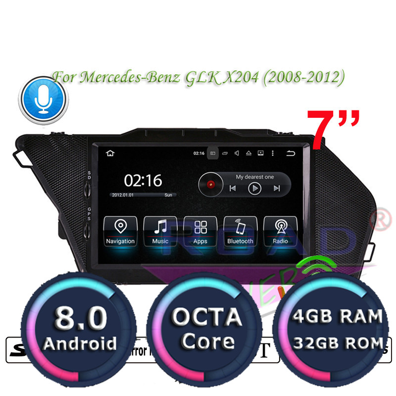 Roadlover Android 8.0 Car Multimedia Player For Mercedes Benz GLK X204 (2008 2012) Stereo GPS Navigation Magnitol Radio NO DVD