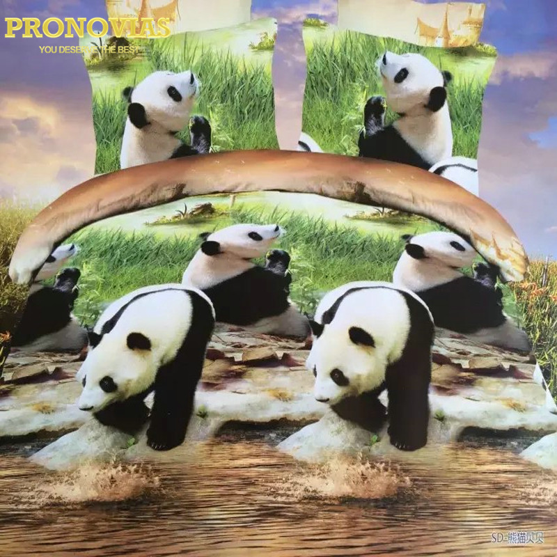 ᗑ】Increíble 3D Panda boutique lecho duvet/doona cubierta cama hoja ...
