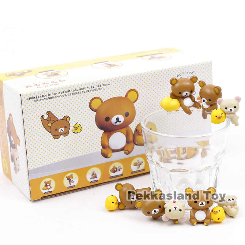 Putitto Seri Rilakkuma Mini PVC Figure Collectible Model Mainan 7 Pcs/set