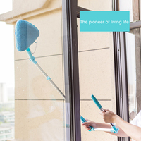 Multipurpose Ceiling Glass Window Cleaning Tool Retractable Rotary Pole Window Cleaner Dust Brush Glass Home Clean Brush