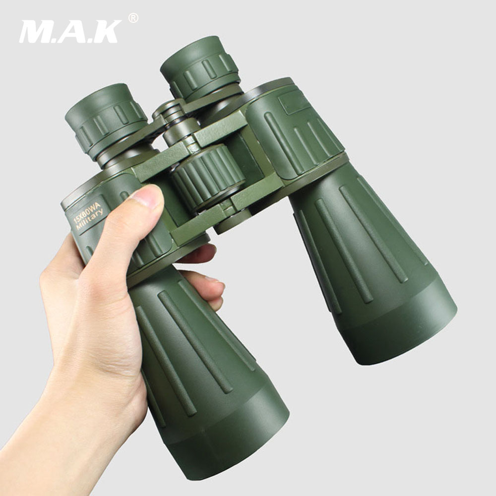 Military 15X60 Binoculars Telescope High Contrast Lens Central Right Focus Waterproof for Hunting Watching