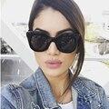 RSSELDN 2017 Модные Солнцезащитные Очки Женщины Luxury Brand Дизайнер Солнцезащитные очки Женский Заклепки Оттенки Большой Стиль Рамки Очки UV400