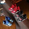 Высокое качество мягкие Детские Shoes Кроссовки Осень Мультфильм Спорт Мода Мальчики baby Shoes Человек-Паук Дети скольжению дышащая