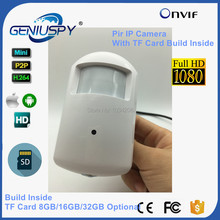 GENIUSPY HD IP Pir Camera 1080P Motion Detector PIR Style IP Security Camera TF Card Slot 8GB/16GB/32GB Microphone Optional