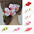 Charming Bridal Hawaii Party Hair Accessories Flower Pattern Ladies Hair Clip Hairpin 7 Colors