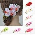Nupcial encantador do havaí festa acessórios de cabelo padrão de flor das senhoras grampo de cabelo Hairpin 7 cores